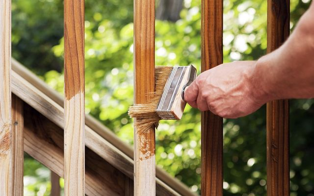 Deck staining cost