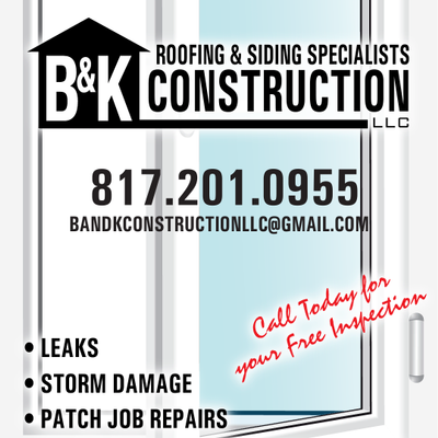 B&K Roofing & Construction, LLC . Boyd, TX Thumbtack