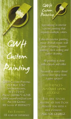 GWH Custom Painting Shepherdstown, WV Thumbtack