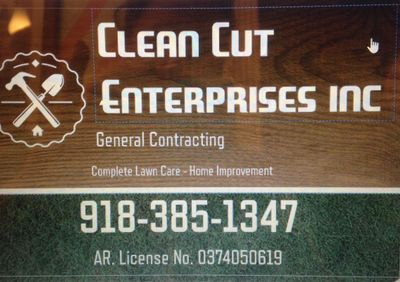 Clean Cut Enterprises inc. Fort Smith, AR Thumbtack