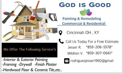 God is good painting and remodeling Fairfield, OH Thumbtack