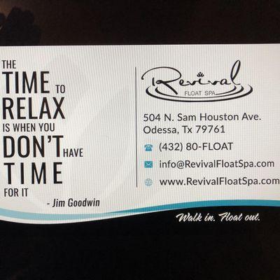 Revival Float Spa Odessa, TX Thumbtack