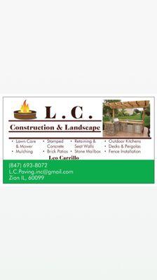 L.C Construction & Landscape Inc. Zion, IL Thumbtack