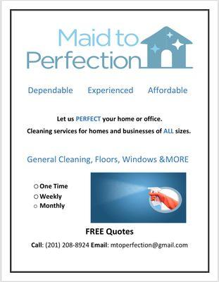 Maid To Perfection LLC North Bergen, NJ Thumbtack
