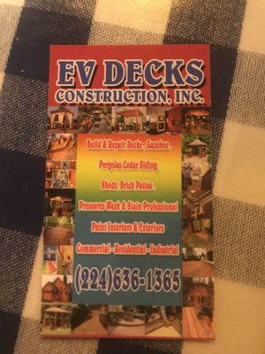 Evdecks Construction Palatine, IL Thumbtack