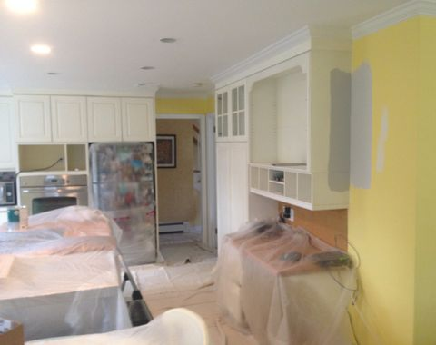 INTERIOR PAINTING - KITCHEN and DINING catering company resident