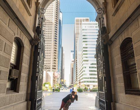 Gorgeous City Hall Engagement