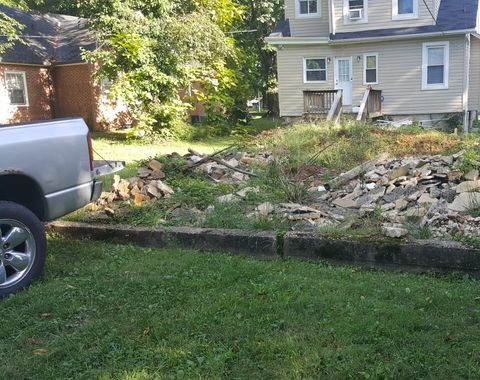 Removal of dirt, concrete and debris