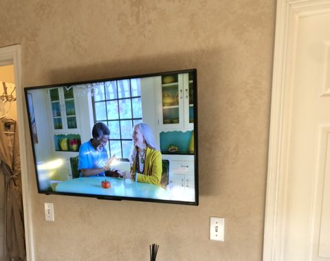 TV Mounting and concealment behind drywall