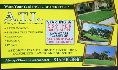 Always There Lawn Care New Port Richey, FL Thumbtack
