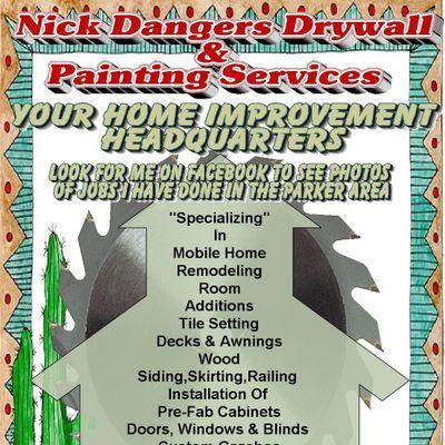 Nick Dangers Drywall & Painting Services Parker, AZ Thumbtack