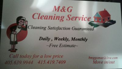 M&G cleaning  Services Oklahoma City, OK Thumbtack