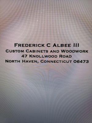 Frederick C Albee III custom cabinets and woodwork North Haven, CT Thumbtack