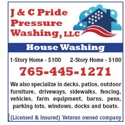 J&C Pride Pressure Washing LLC. Shirley, IN Thumbtack