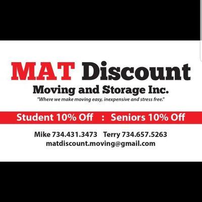 MAT Discount Moving and Storage lnc. Ypsilanti, MI Thumbtack
