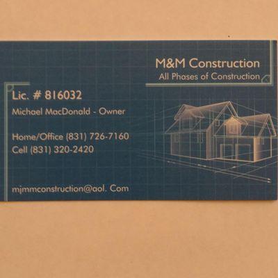 M&M Construction Aromas, CA Thumbtack
