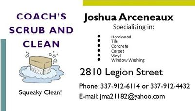 COACH'S SCRUB AND CLEAN Lake Charles, LA Thumbtack
