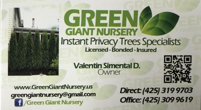 Green Giant Nursery Lake Stevens, WA Thumbtack