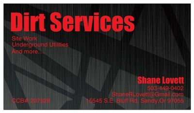 Dirt Services Sandy, OR Thumbtack