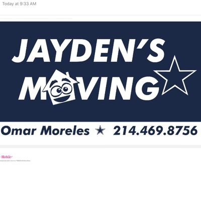 Jayden's Moving Company Frisco, TX Thumbtack