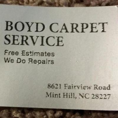 Boyd Carpet Service Marshville, NC Thumbtack