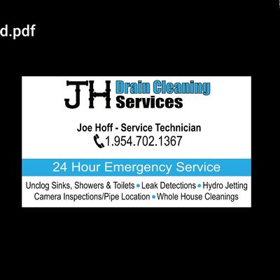 J.H. Drain Cleaning Services LLC Boca Raton, FL Thumbtack