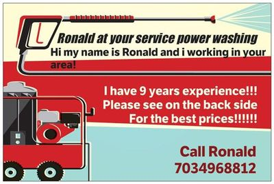 Ronald at Your service power washing an cleaning service