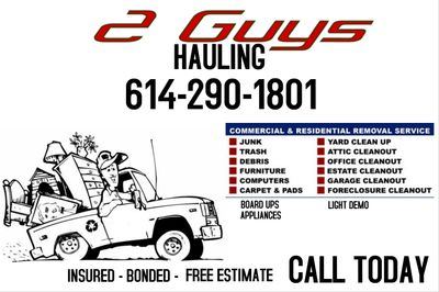 2 Guys Hauling Columbus, OH Thumbtack