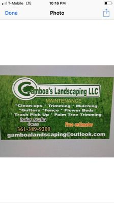 Gamboa's landscaping LLC Corpus Christi, TX Thumbtack