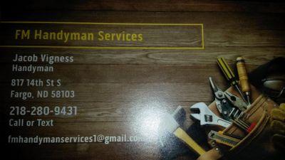 FM Handyman Services Fargo, ND Thumbtack