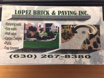Lopez Brick Paving inc Warrenville, IL Thumbtack