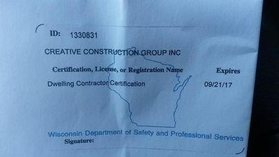 Creative Construction Group Inc. Crystal Lake, IL Thumbtack