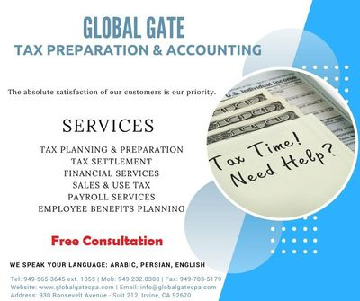 Global Gate Tax , Accounting ,Bookkeeping Irvine, CA Thumbtack