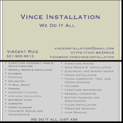 Vince Installation Port Orange, FL Thumbtack