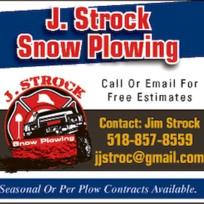 J Strock Snow Plowing and Construction Watervliet, NY Thumbtack