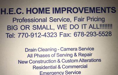 HEC Home Improvements Marietta, GA Thumbtack