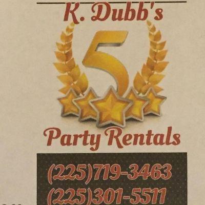 K Dubb's 5 Star Party Rentals Baker, LA Thumbtack