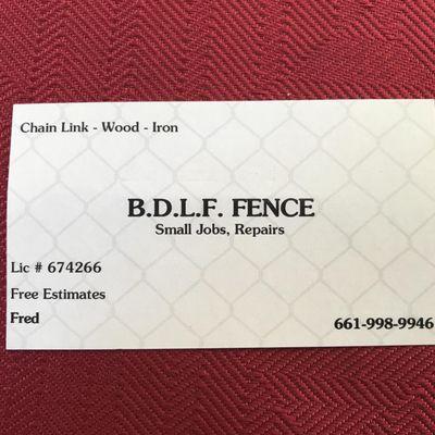Bdlf fence Stevenson Ranch, CA Thumbtack