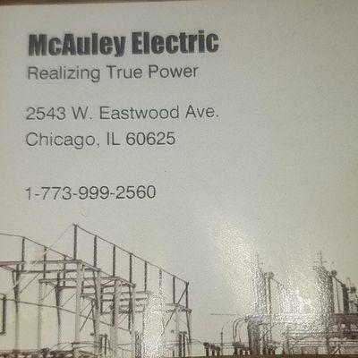McAuley Electric Chicago, IL Thumbtack