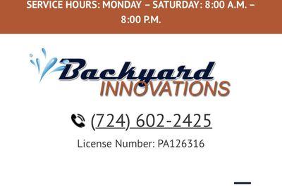 BackYard Innovations Butler, PA Thumbtack