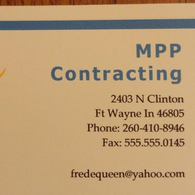 Mpp contracting llc Fort Wayne, IN Thumbtack