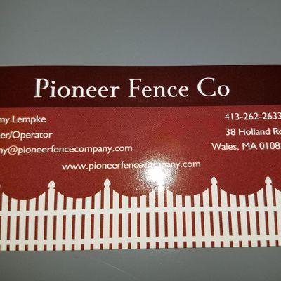 Pioneer Fence Co Wales, MA Thumbtack
