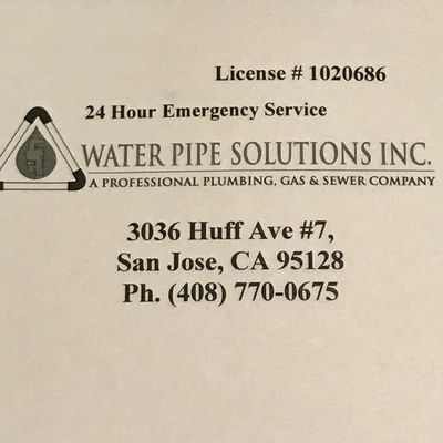 Water pipe solutions inc. Tracy, CA Thumbtack