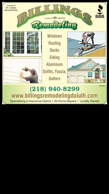 Billings Remodeling Inc. Duluth, MN Thumbtack