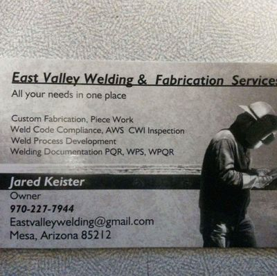 East Valley Welding & Fabrication Mesa, AZ Thumbtack
