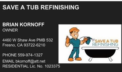Save A Tub Refinishing Fresno, CA Thumbtack