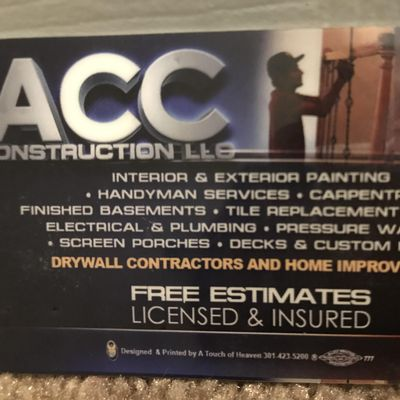 ACC Construction LLC Mc Lean, VA Thumbtack