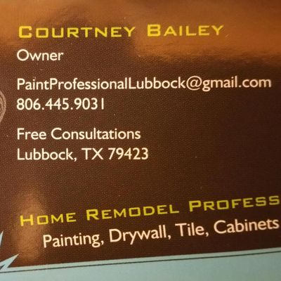 Courtney Bailey's Paint and Home Remodeling Professional Lubbock, TX Thumbtack