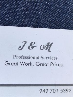 J & M Professional Services Lake Forest, CA Thumbtack