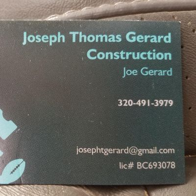 Joseph Thomas Gerard Construction Minneapolis, MN Thumbtack